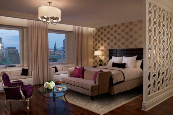 Une chambre rénovée de l'hôtel. Crédit photo: Alexandre Parent. ()