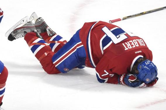 Tom Gilbert a été blessé en deuxième période. (PHOTO BERNARD BRAULT, LA PRESSE)