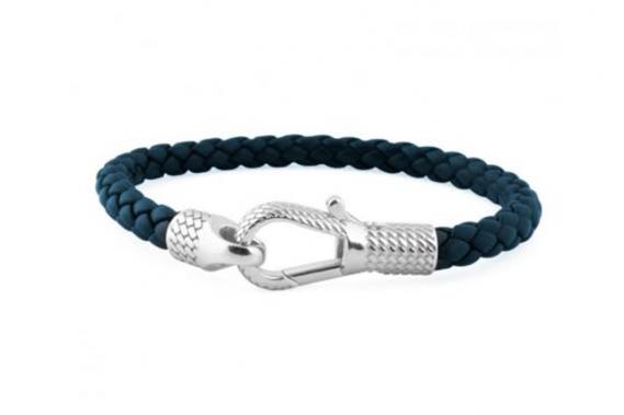 <strong>Bracelet Ziggy</strong><br />Avec son cordon tressé en cuir italien et son fermoir en argent, ce bracelet comble le fossé entre décontracté et raffiné. Offert en bleu, marron ou noir. <strong>Prix: 350 $.</strong><br /><br /> ()