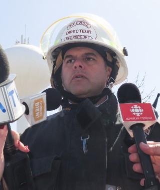 Stéphane Simoneau, chef pompier. ()