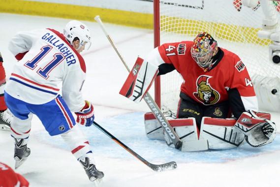 Le gardien Craig Anderson a remplacé Andrew Hammond devant le filet des Sénateurs pour ce premier match de la série à Ottawa. (Photo Sean Kilpatrick, PC)