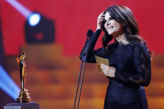 Guylaine Tremblay, gagnante du prix Artis pour le rôle féminin dans un téléroman québécois (Photo: Olivier Jean, La Presse)