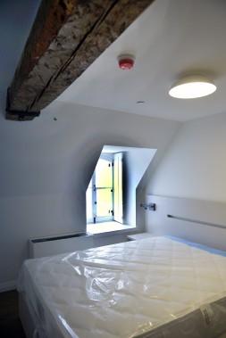 Les chambres contemporaines se trouvent au 4e niveau, dans les combles. (Le Soleil, Jean-Marie Villeneuve)