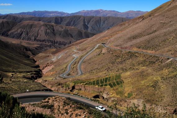 La spectaculaire route 52 mène de Pumamarca jusqu'à Salinas Grandes. (Photo Marc Tremblay)