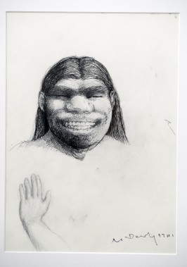 Étude pour <em>Homme de Pékin</em>. Crayon gras, collection de l'artiste. (Le Soleil, Jean-Marie Villeneuve)