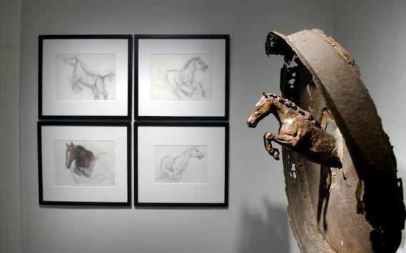 Le cheval est l'un des premiers animaux dessinés et sculptés par Don Darby. (Le Soleil, Jean-Marie Villeneuve)