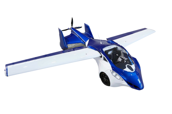 Auto volante: parachute en équipement de série