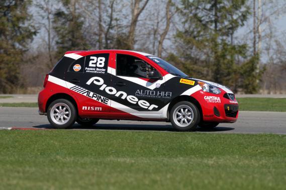 La recrue Frédéric Bernier, propriétaire d'entreprise, époux et père de trois enfants, amorcera sa carrière de pilote de course lors de ce championnat. (Photo Bruno Dorais, fournie par Nissan Canada)