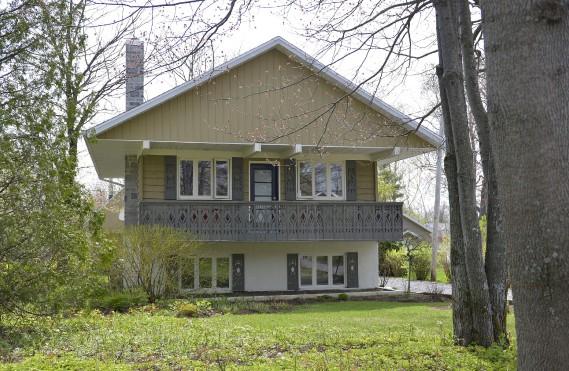 La maison a conservé son <br /> aspect extérieur de chalet. (Le Soleil, Yan Doublet)
