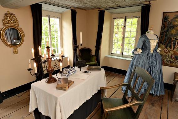 Jean Mauvide, nommé seigneur d'une partie de l'Île, devait recevoir en privé ses censitaires dans sa chambre-bureau, à l'étage. (Le Soleil, Patrice Laroche)