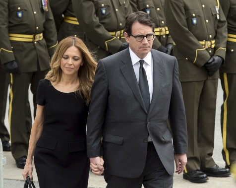 Julie Snyder et le chef du PQ, Pierre-Karl Péladeau (La Presse Canadienne, Ryan Remiorz)