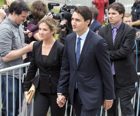 Le chef du Parti libéral du Canada, Justin Trudeau, et sa femme, Sophie Grégoire (La Presse Canadienne, Ryan Remiorz)