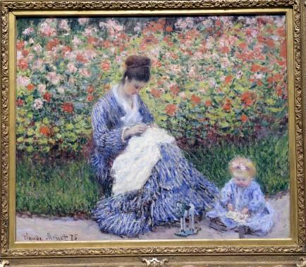 <em>Camille Monet et un enfant dans le jardin de l'artiste de</em>Claude Monet (Le Soleil, Jean-Marie Villeneuve)