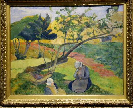 <em>Paysage aux deux Bretonnes, 1889, dePaul Gauguin</em> (Le Soleil, Jean-Marie Villeneuve)