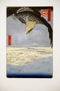 Une des <em>Cent vues célèbres d'Edo</em>, Utagawa Hiroshige, 1857 (Le Soleil, Jean-Marie Villeneuve)