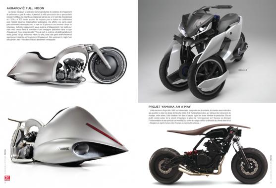 Une section photo est consacrée aux prototypes et motos modifiées les plus audacieuses, comme l'Akrapovic Full Moon ainsi que les Yamaha 03GEN-f et Ah A May. (Image fournie par les Guides motocyclistes)