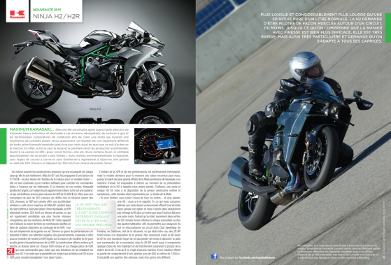La dernière moto essayée par Bertrand Gahel avant de mettre sous presse a été l'hypersportive Kawasaki H2, à la toute fin du mois d'avril. (Image fournie par les Guides motocyclistes)