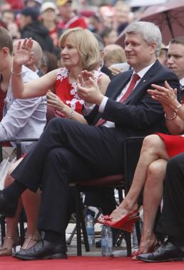 Le premier ministre Stephen Harper et sa femme Laureen (Simon Séguin-Bertrand, LeDroit)