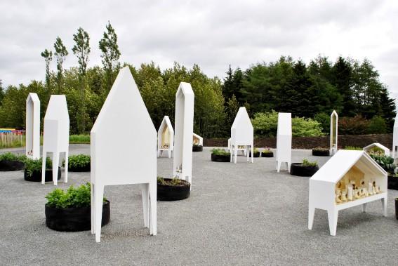 <em>Sacré Potager</em> (2013), atelier barda_architecture,Montréal -Ce jardin conceptuel se veut un hommage aux légumes oubliés et un plaidoyer pour leur retour sur les étals de nos marchés. (Photo Sylvain Legris)
