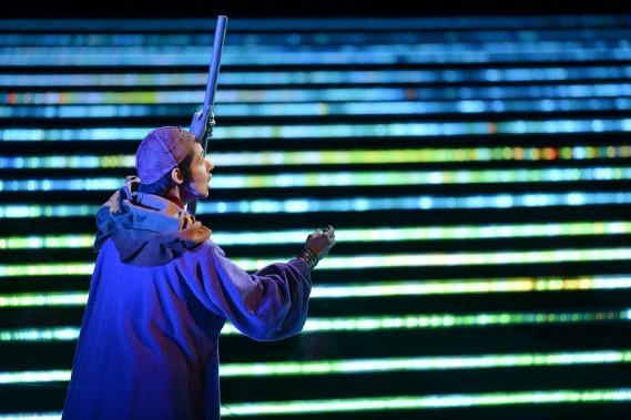 La mezzo-soprano Tamara Mumford, dans le rôle du Pèlerin (Le Soleil, Pascal Ratthé)