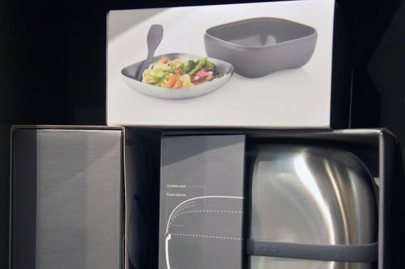 Panier repas Eva Solo, Opuszone ou www.opuszone.com, 49,95 $. Cette boîte à lunch de conception danoise comprend une fourchette et une cuillère maintenus en place dans le convercle. (Le Soleil, Jean-Marie Villeneuve)