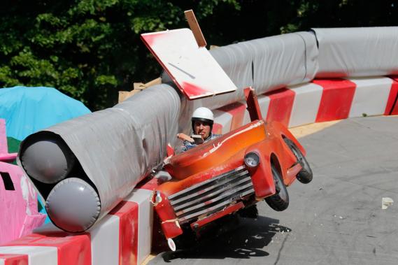 Finir premier n'est pas un gage de victoire automatique. La vitesse n'est rien sans un grain de personnalité, et un bon sens du spectacle! (Photo Benoit Tessier, Reuters)