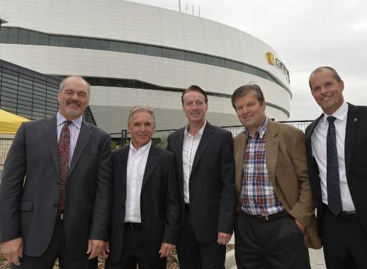 Michel Goulet, Jean Gagnon, Marc Fortier, Marian Stastny et Steven Finn (Le Soleil, Pascal Ratthé)
