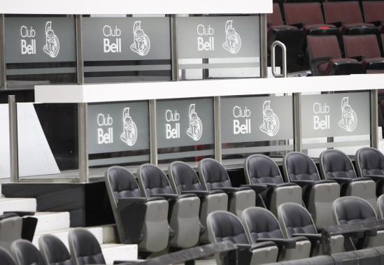 Le tout nouveau Club Bell, qui comprend notamment un service tout inclus et des sièges luxueux. (Simon Séguin-Bertrand, LeDroit)