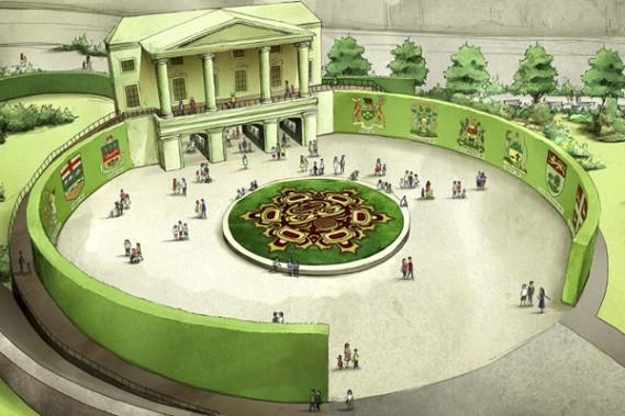 <em>Place de la Confédération</em> seral'une des cinq oeuvres majeures de l'exposition. Ce sera l'une des entrées principales du parc Jacques-Cartier. (Courtoisie)