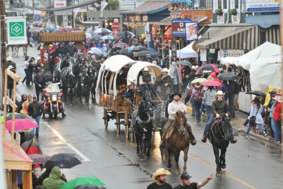 Un peu plus de 300 chevaux ont paradé devant une foule conquise à l'avance lors duplus grand défilé à traction animale au Canada. (Photo: Émilie O'Connor)