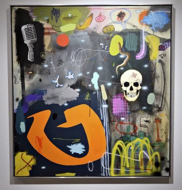 <em>Le rassemblement</em>, 2015, Acrylique et huile sur canevas (Le Soleil, Patrice Laroche)