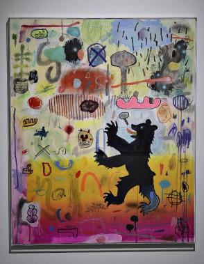 <em>Pochade III</em>, média mixte sur Rising Museum Board (Le Soleil, Patrice Laroche)