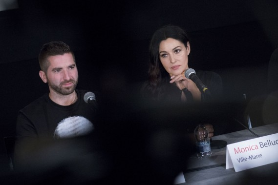 Guy Édouin et Monica Bellucci ()