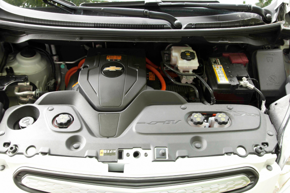 Le moteur de la Chevrolet Spark EV (Photo Éric LeFrançois, collaboration spéciale)