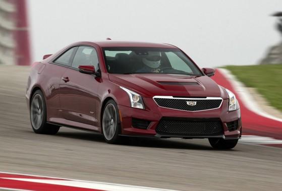 <strong>Cadillac ATS-V — À partir de 70 000 $ (estimation)</strong> Question de donner du pep à sa plus petite berline sport, Cadillac lui insuffle 464 chevaux, produits par un V6 de 3,6 litres biturbo. (Photo fournie par GM)