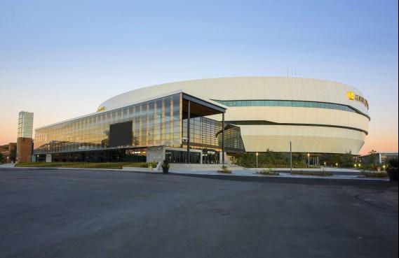 Centre Vidéotron, 250-B, boulevard Wilfrid-Hamel, arrondissement de La Cité-Limoilou, dans la catégorie Construction neuve (Photo fournie par les Mérites d'architecture)