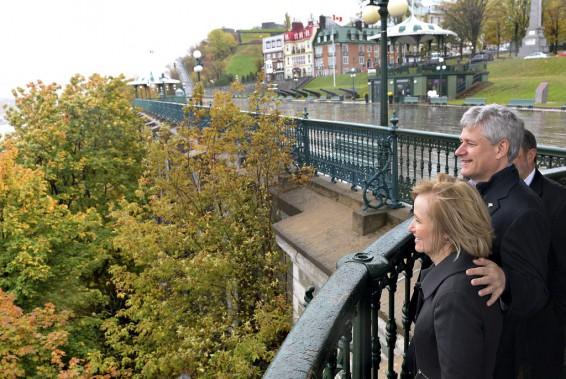 Quatrième visite à Québec de Stephen Harper, le 16 octobre. (Le Soleil, Patrice Laroche)