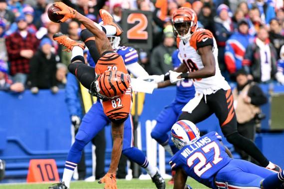 Marvin Jones a marqué l'un des touchés des Bengals pour battre les Bills 34-21, dimanche. (AP, Gary Wiepert)