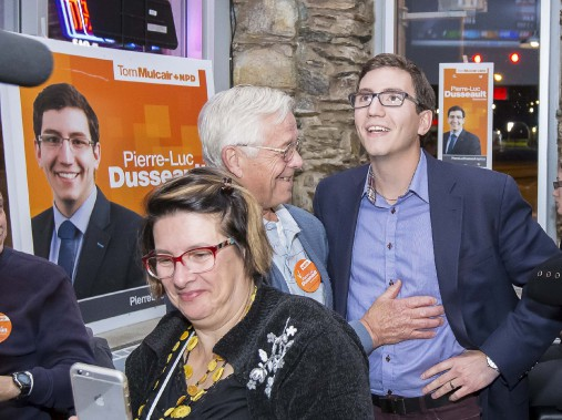 Pierre-Luc Dusseault, du NPD, réélu dans Sherbrooke. (Imacom, Jocelyn Riendeau)