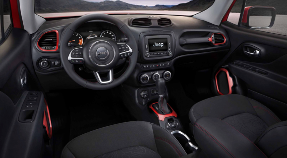 L'habitacle du Jeep Renegade (Photo fournie par Jeep)