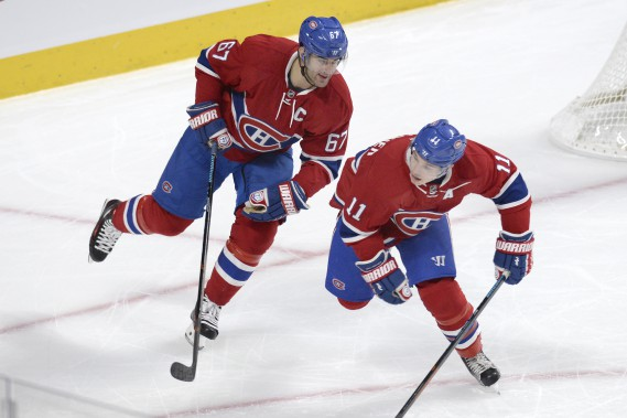 Max Pacioretty et Brendan Gallagher (PHOTO BERNARD BRAULT, LA PRESSE)