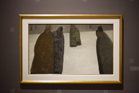 <em>La promenade des prêtres</em> de Jean Paul Lemieux (Le Soleil, Caroline Grégoire)