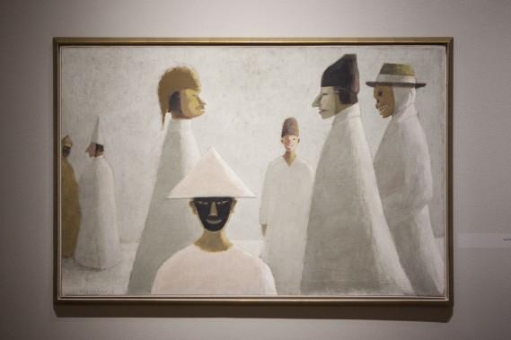 <em>Les masques</em> de Jean Paul Lemieux (Le Soleil, Caroline Grégoire)