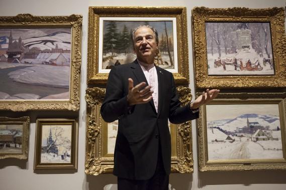 L'homme d'affaires et mécène Pierre Lassonde présente sacollection privée au Musée national des beaux-arts duQuébec. (Le Soleil, Caroline Grégoire)
