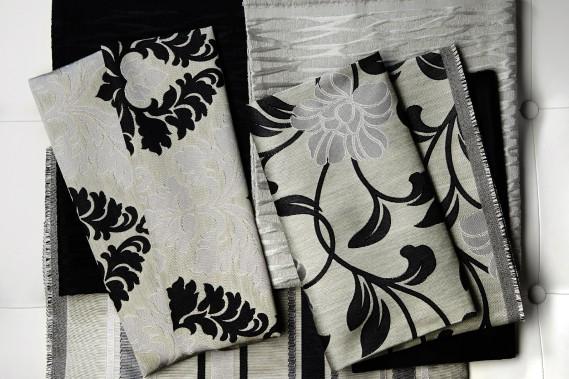 <span>Collection Glamour - L'élégance ne saurait passer de mode puisque cela relève davantage d'une manière d'être que d'une quelconque tendance. En ce sens, la collection Glamour est dite intemporelle. Inspirée du style Art Déco, elle est synonyme d'opulence et des textures riches. Des couleurs comme le blanc, l'ivoire et le noir dominent et sont sublimées par des accents dorés et argentés.</span> (Fabricville)