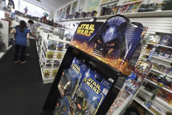 Figurines de <em>Star Wars</em> (AFP, Robyn Beck)