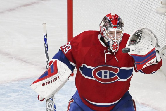 Mike Condon effectue un arrêt. (PHOTO ROBERT SKINNER, LA PRESSE)