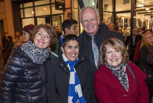 Le conseiller Robert Pouliot et les conseillèresChristine Ouellet, Nicole Bergeron et Chantal L'Espérance ()