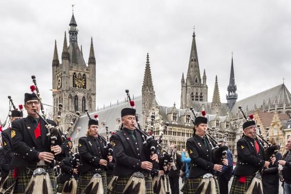 À Ypres, en Belgique (Photo AP, Geert Vanden Wijngaert)
