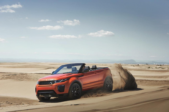 Le Range Rover Evoque décapotable (Photo fournie par Land Rover)